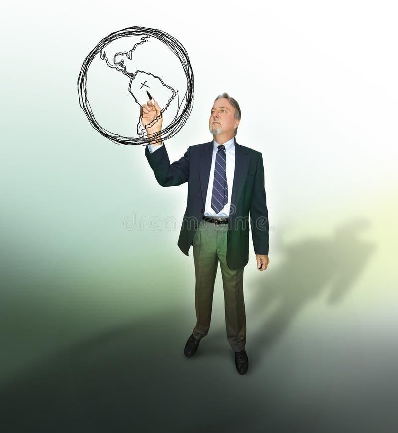 Bedrijfs globale strategie stock foto's