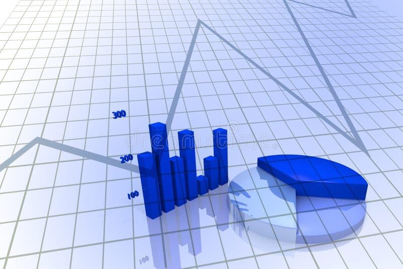 Bedrijfs Grafiek en diagram stock illustratie