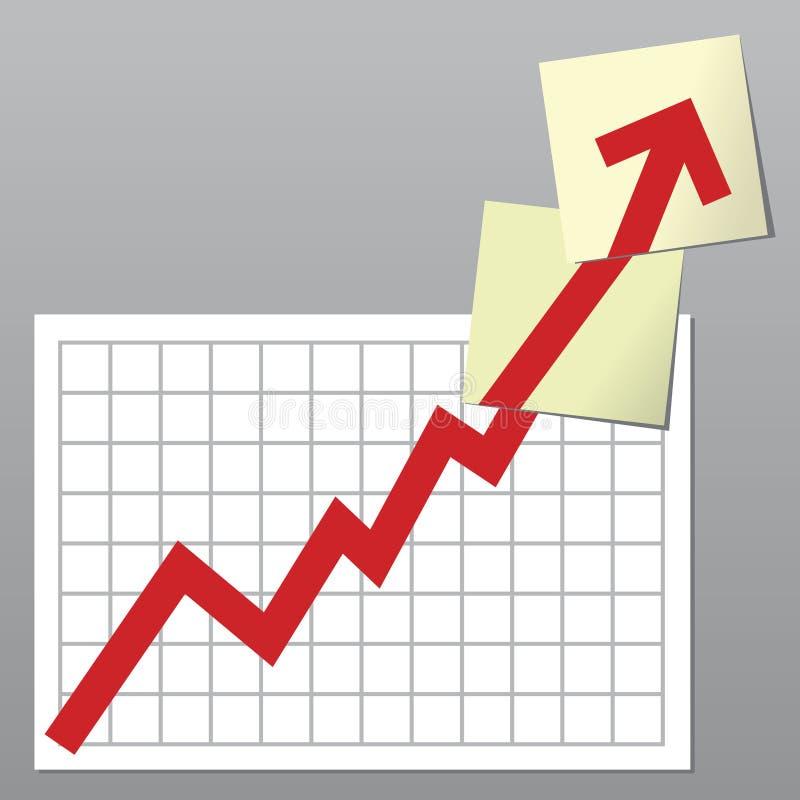 Bedrijfs grafiek omhoog vector illustratie