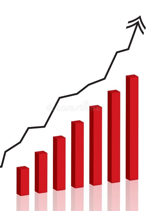 Bedrijfs grafiek - vector stock illustratie
