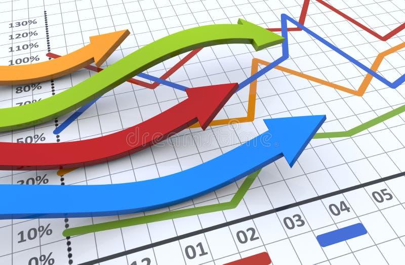 Bedrijfs grafiekconcept stock illustratie