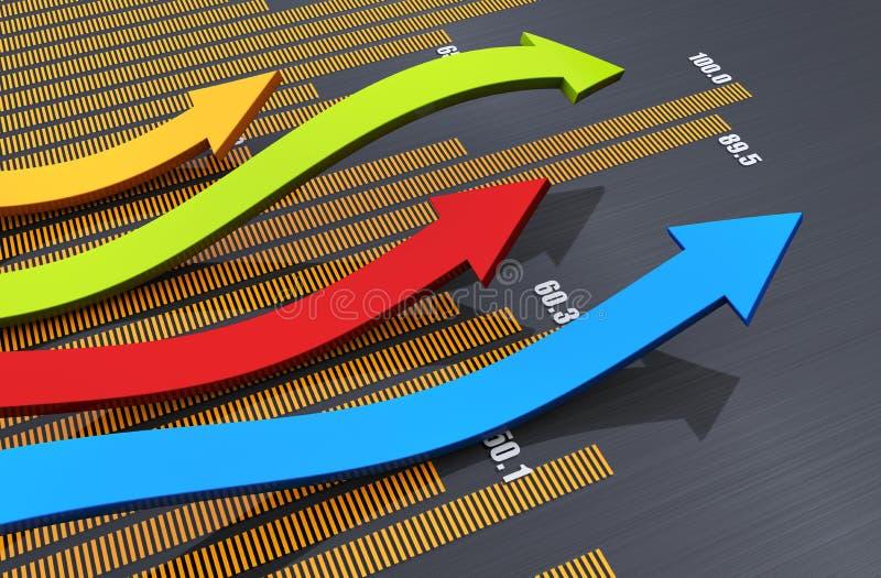 Bedrijfs grafiekconcept vector illustratie