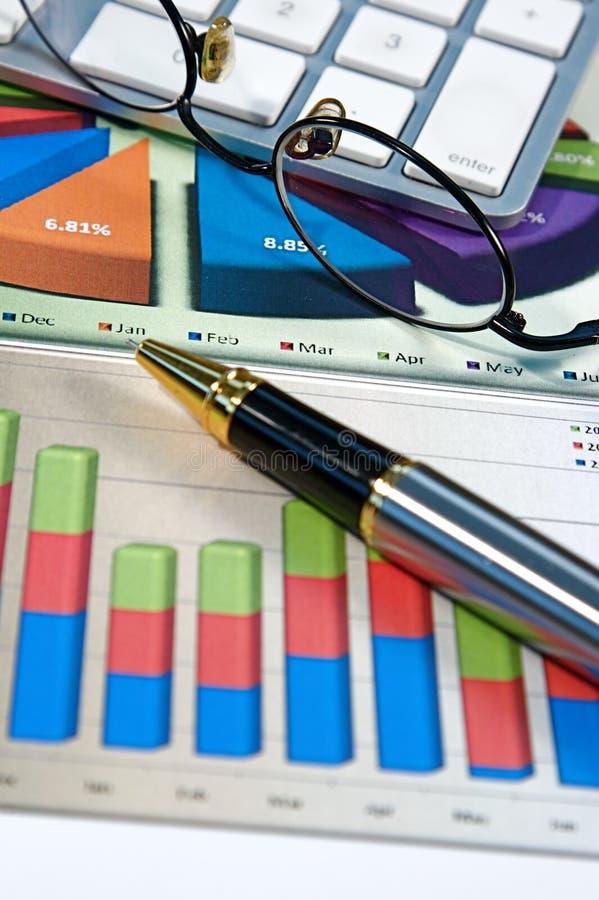 Bedrijfs Grafieken royalty-vrije stock foto