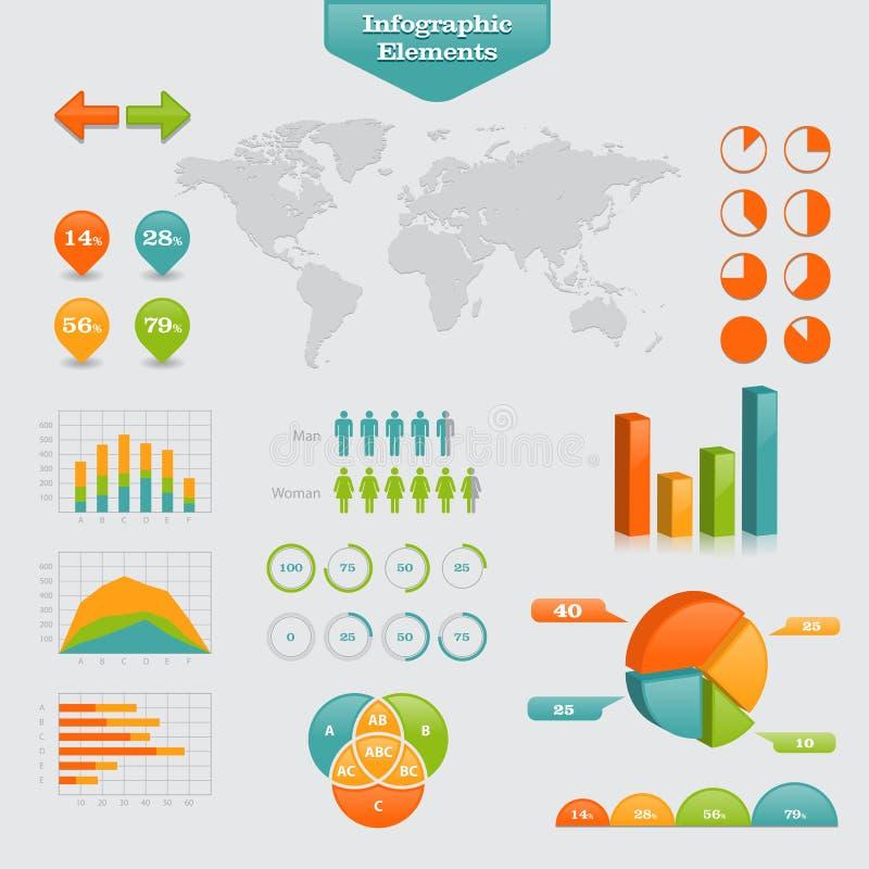 Bedrijfs Grafische Info Stock Foto