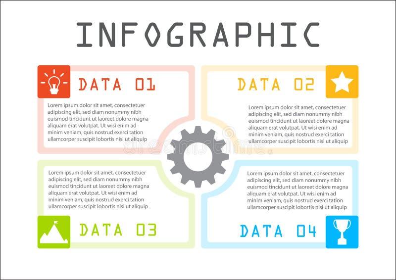 Bedrijfs grafische informatie, de grafiek van het rechthoekproces, geleidelijk, manier aan succes royalty-vrije stock fotografie