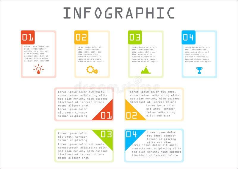 Bedrijfs grafische informatie, rechthoekgrafiek, geleidelijk, manier aan succes royalty-vrije stock foto's
