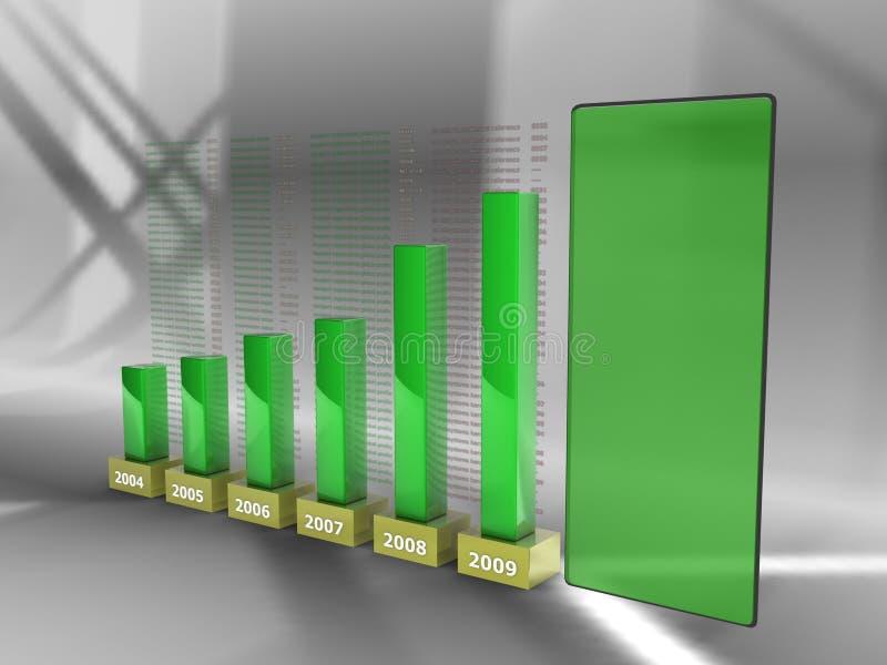 Bedrijfs groene staven, stock illustratie