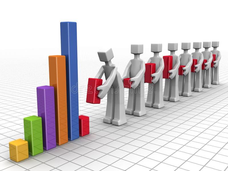 Bedrijfs groepswerk en prestatiesconcept
