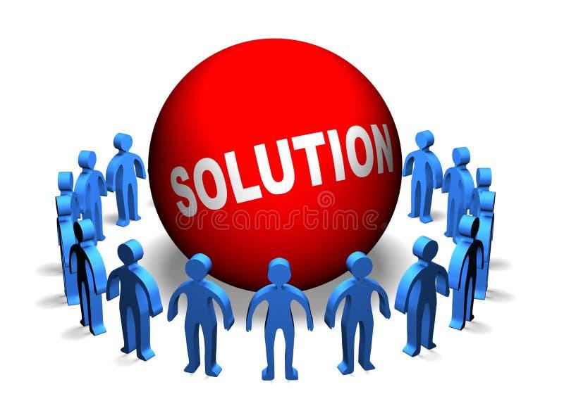 Bedrijfs Groepswerk - Oplossing vector illustratie