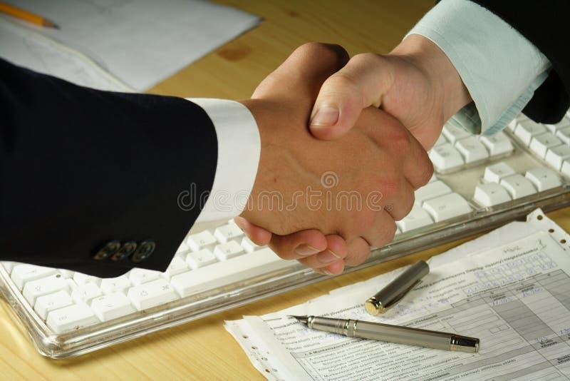 Bedrijfs handdruk stock afbeeldingen
