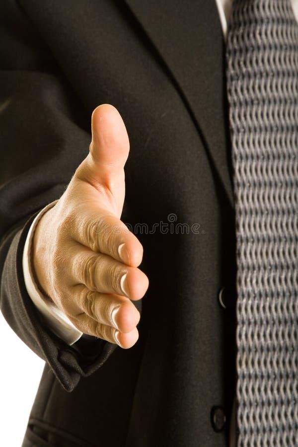 Bedrijfs handdruk stock afbeelding