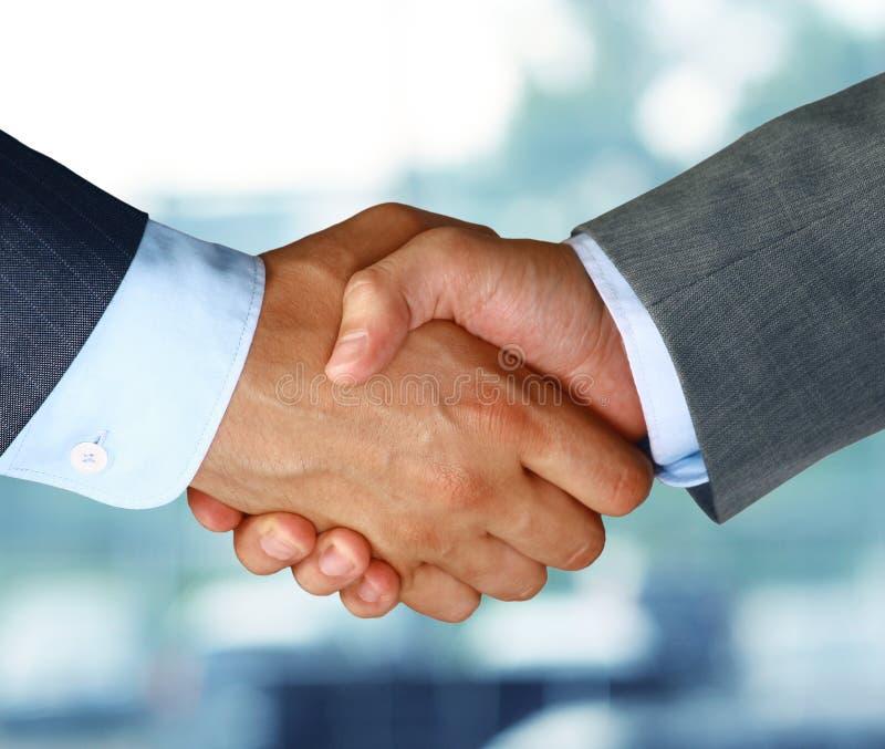 Bedrijfs handschok stock afbeelding