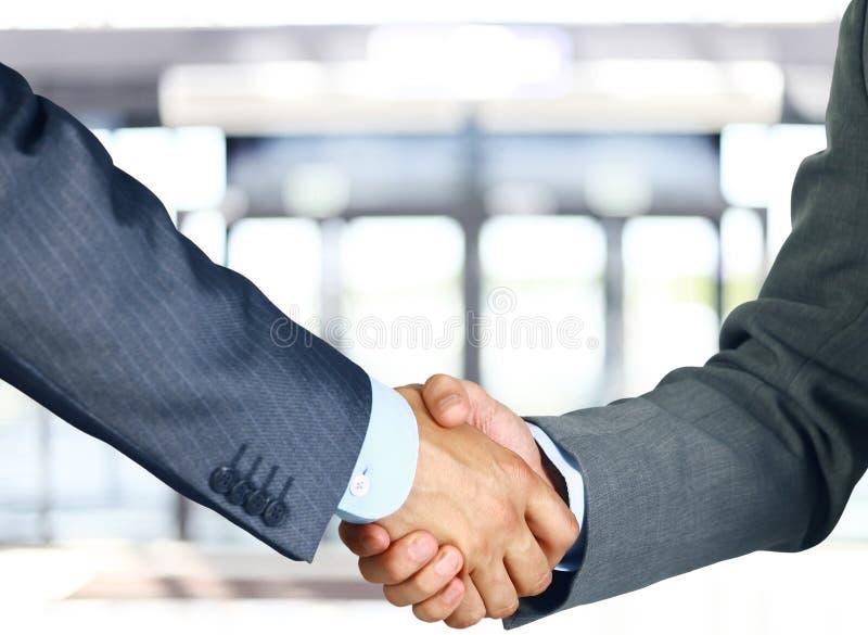 Bedrijfs handschok stock fotografie