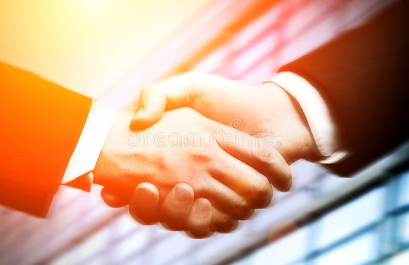 Bedrijfs handschok royalty-vrije stock afbeeldingen