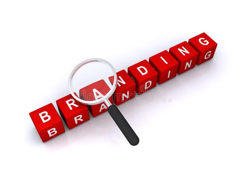 Bedrijfs het brandmerken concept stock illustratie