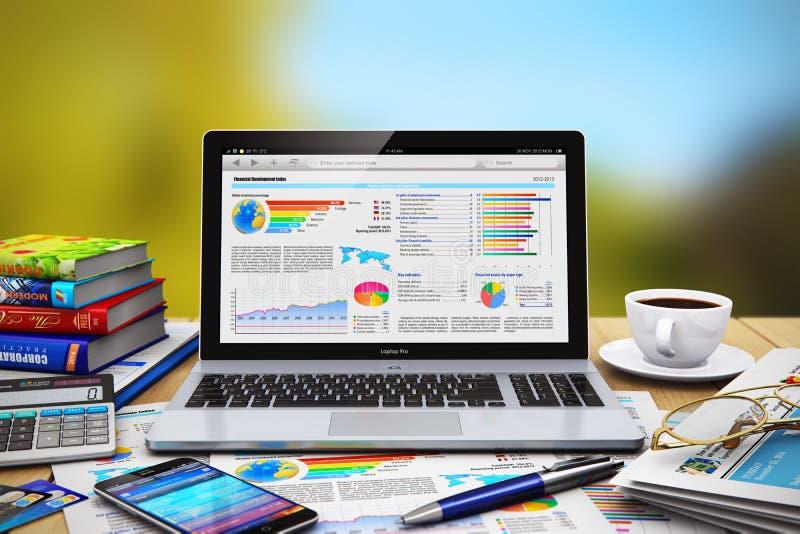 Bedrijfs het werkconcept vector illustratie