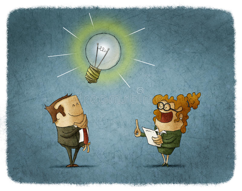 Bedrijfs Idee royalty-vrije illustratie