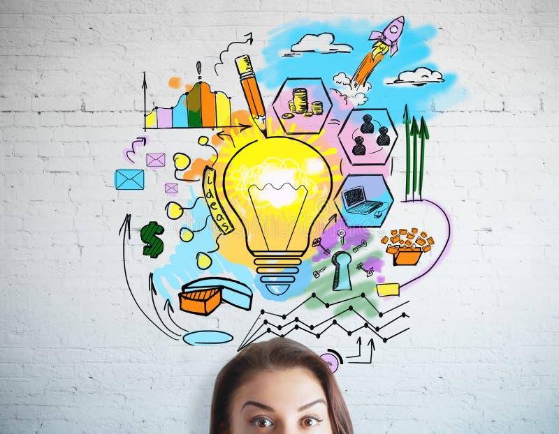 Bedrijfs ideeconcept vector illustratie