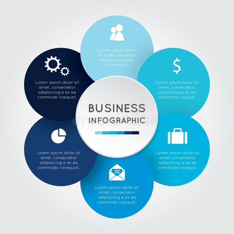 Bedrijfs infographic Bloem royalty-vrije illustratie
