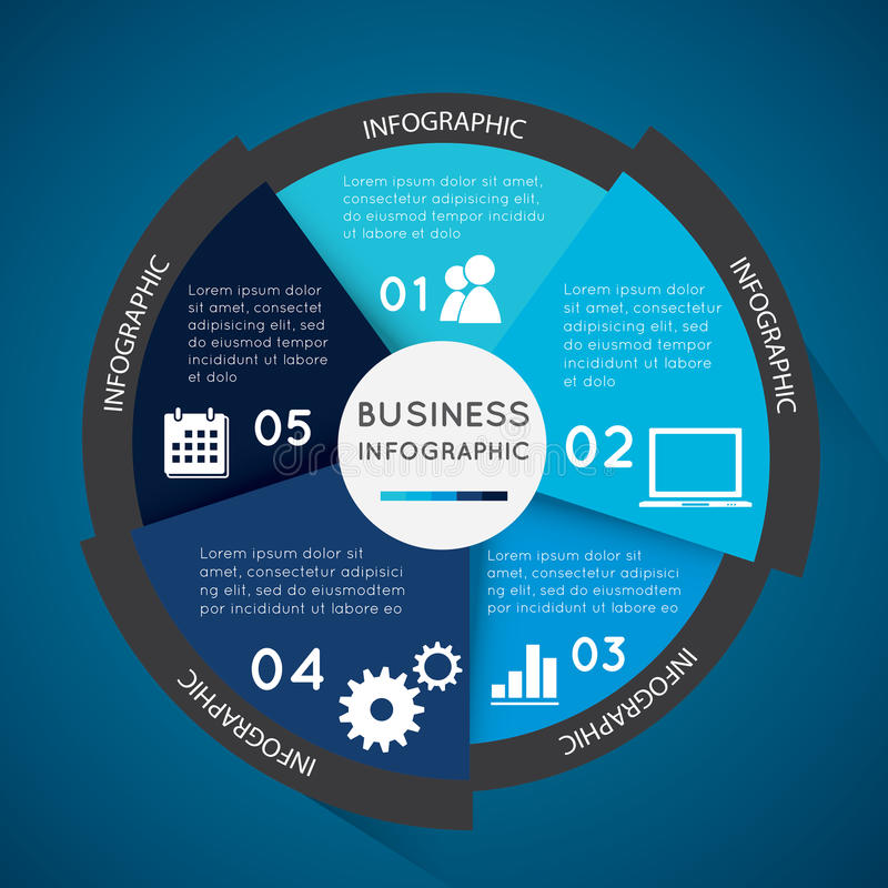 Bedrijfs infographic cirkel stock illustratie