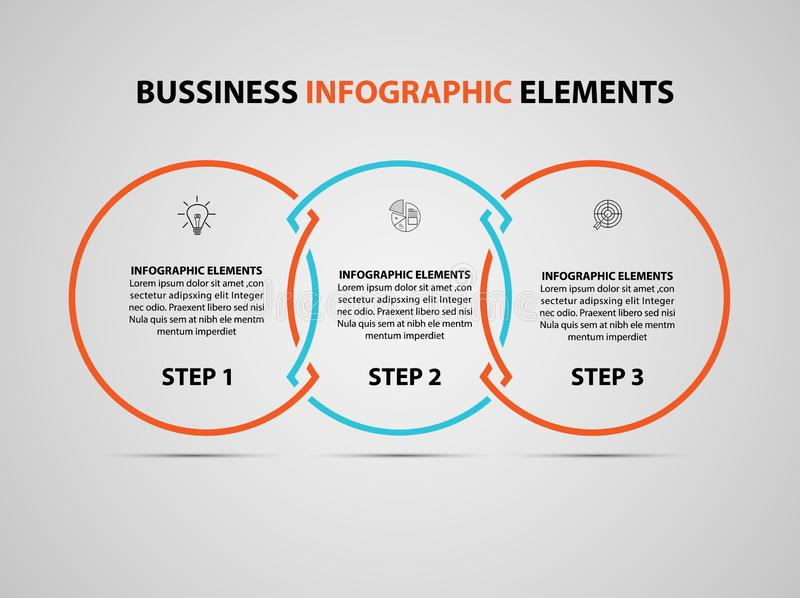 Bedrijfs infographic element Vector het ontwerpmalplaatje van de infographicschronologie modern Vector stock illustratie