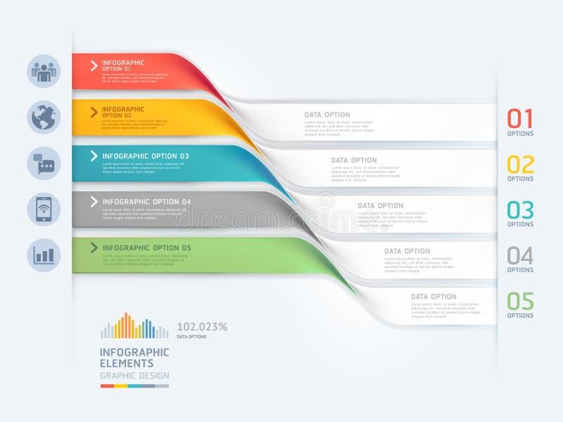 Bedrijfs infographic elementenmalplaatje Vector graphhics kan voor werkschemalay-out, banner, diagram, aantalopties worden gebrui stock illustratie