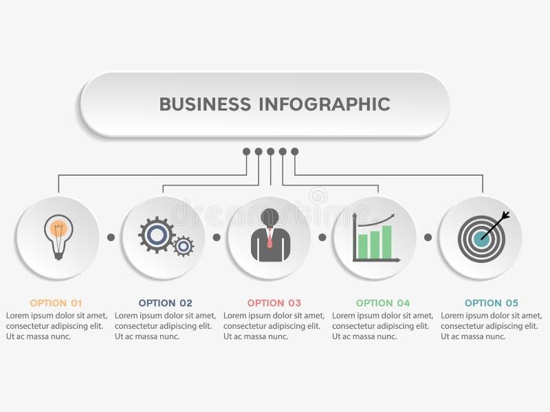 Bedrijfs infographic malplaatje stock illustratie