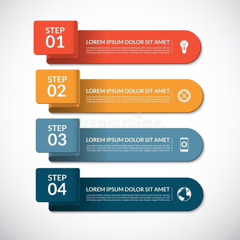 Bedrijfs infographic malplaatje vector illustratie