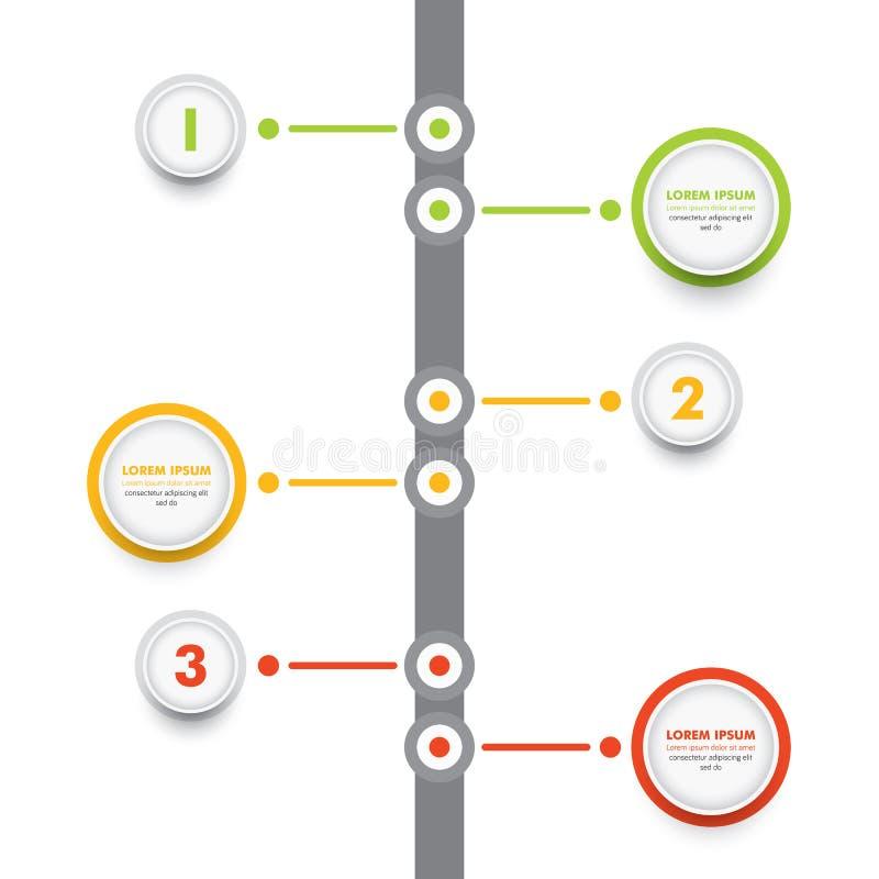Bedrijfs infographic malplaatje Het moderne Infographics-Malplaatje van het Chronologieontwerp met Optiesgrafiek Vector illustrat royalty-vrije illustratie