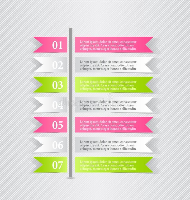 Bedrijfs infographic malplaatje voor presentatie, onderwijs, Webontwerp, banner, brochure, vlieger royalty-vrije illustratie