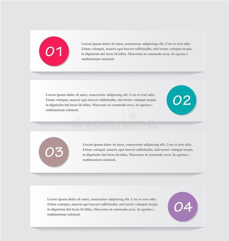 Bedrijfs infographic malplaatje voor presentatie, onderwijs, Webontwerp, banner, brochure, vlieger vector illustratie