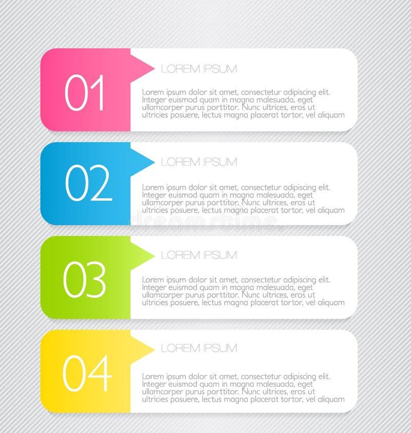 Bedrijfs infographic malplaatje voor presentatie, onderwijs, Webontwerp, banner, brochure, vlieger stock illustratie