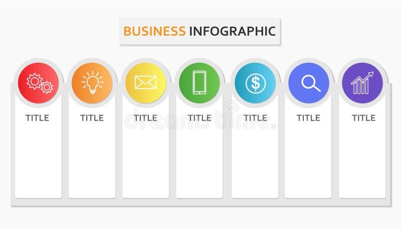 Bedrijfs infographic malplaatjeelement voor presentaties of informatiebanner vector illustratie