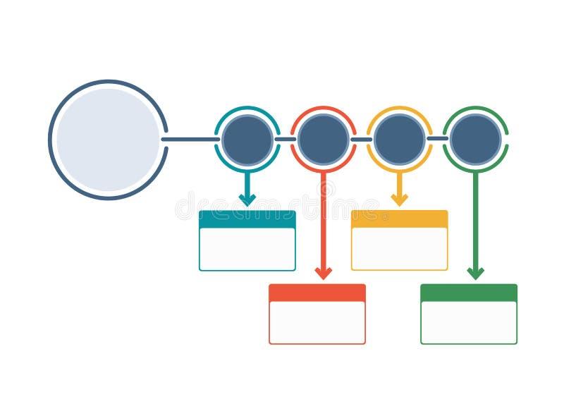 Bedrijfs infographic malplaatjestroomschema vector illustratie