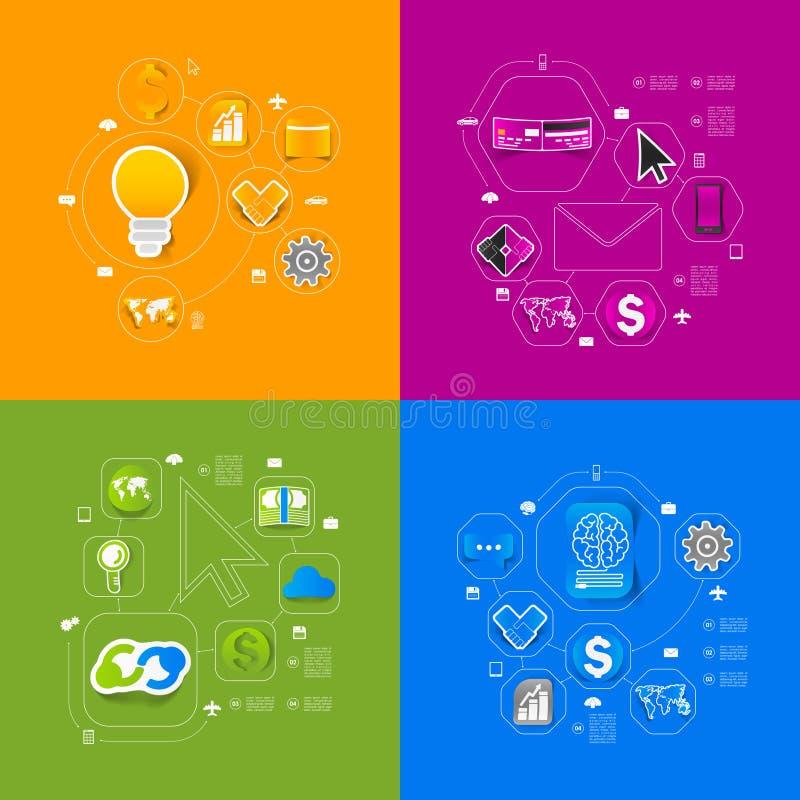 Bedrijfs infographic sticker royalty-vrije illustratie