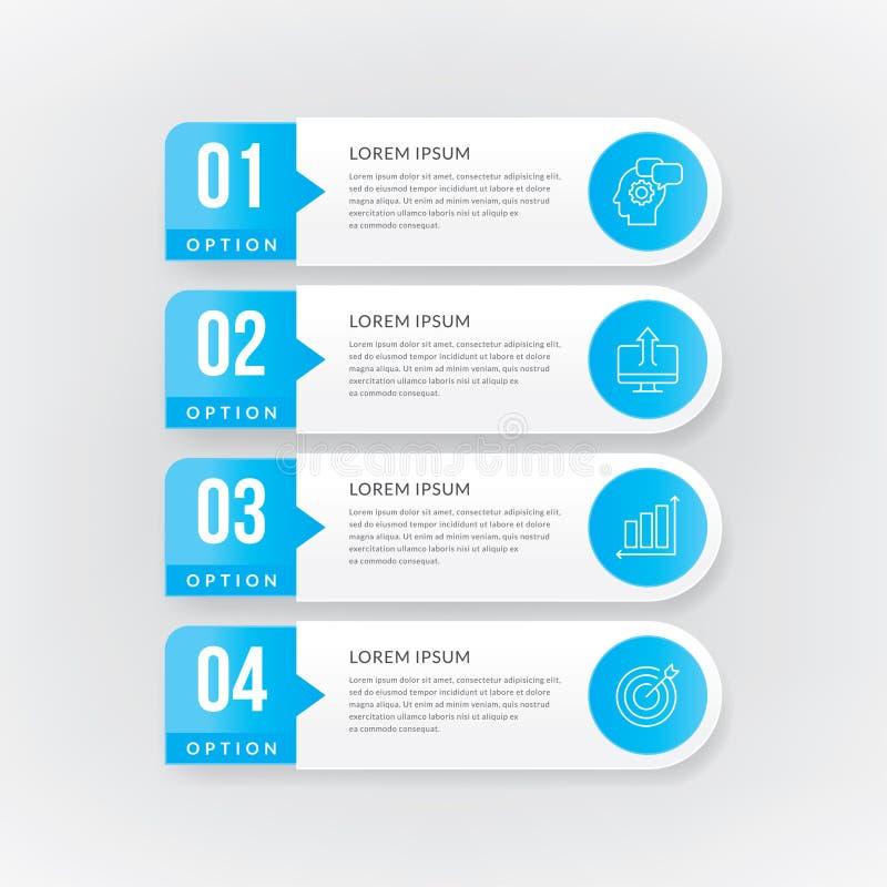 Bedrijfs informatie-grafiek vector illustratie