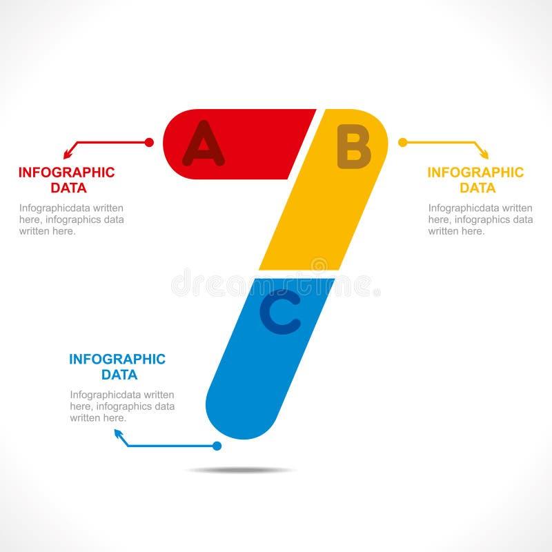 Bedrijfs informatie-grafiek ontwerpconcept stock illustratie