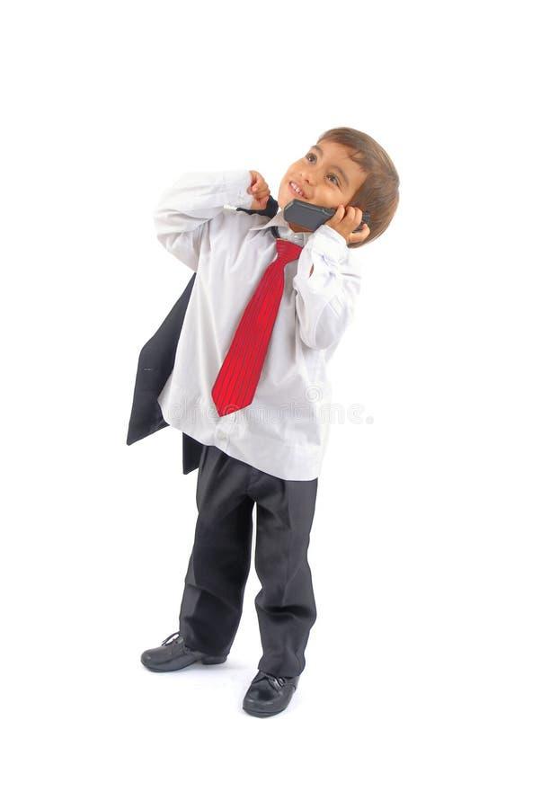 Bedrijfs jongen op de Telefoon royalty-vrije stock foto