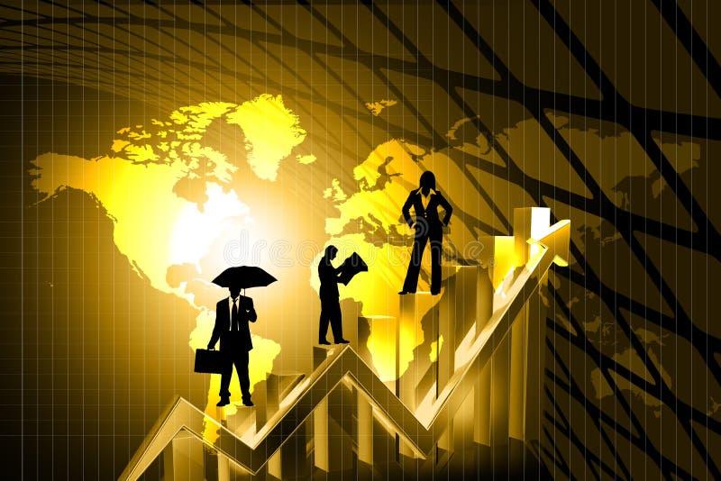 Bedrijfs kleurenachtergrond vector illustratie