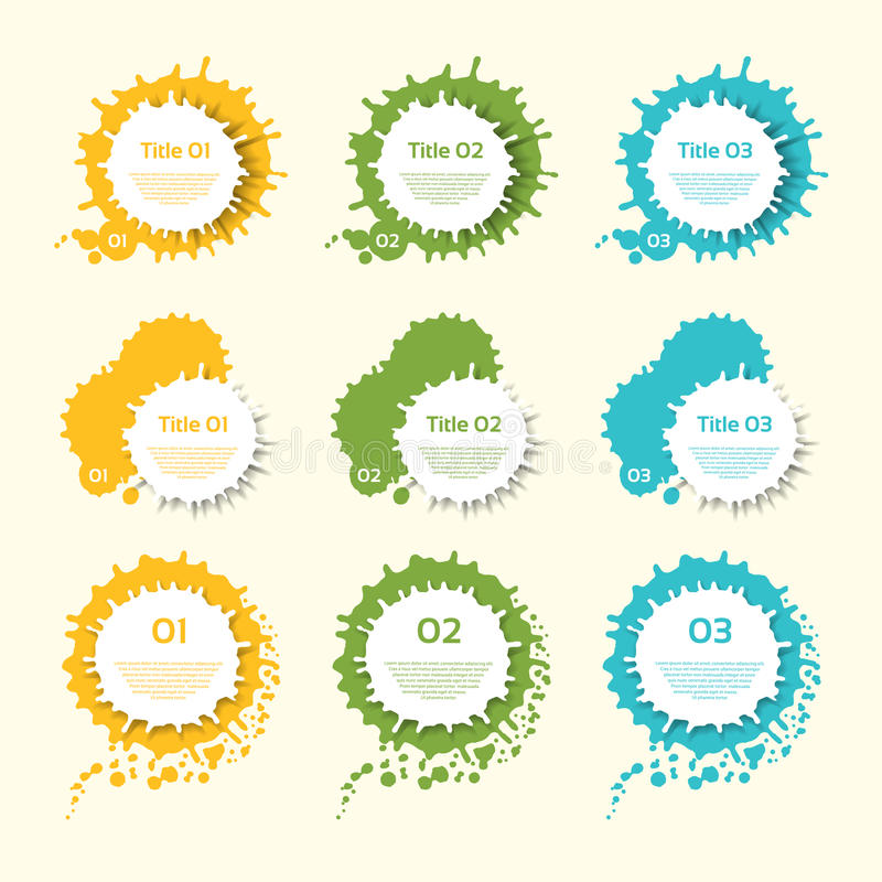 Bedrijfs Kleurrijke Vectorplonsenetiketten stock illustratie