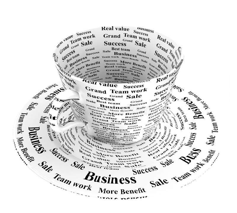 Bedrijfs koffiekop stock illustratie