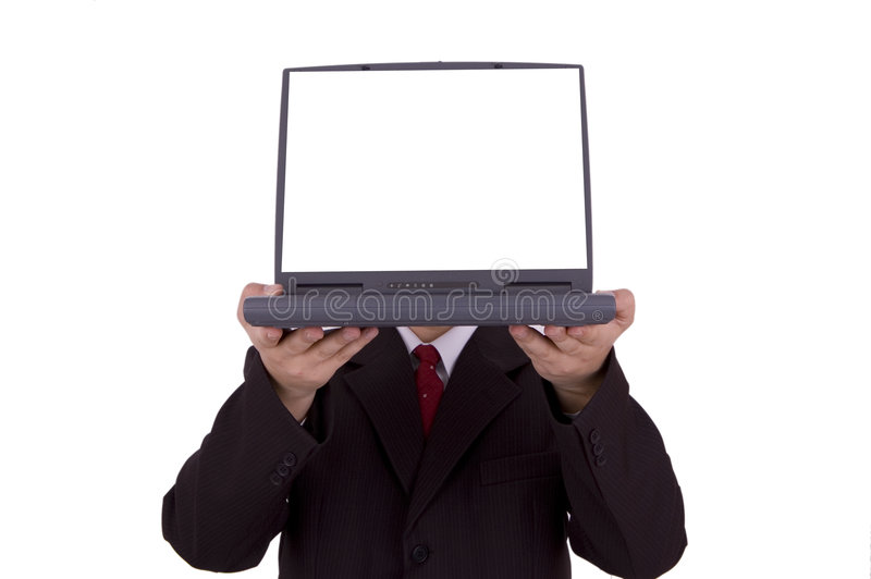 Bedrijfs laptop stock fotografie