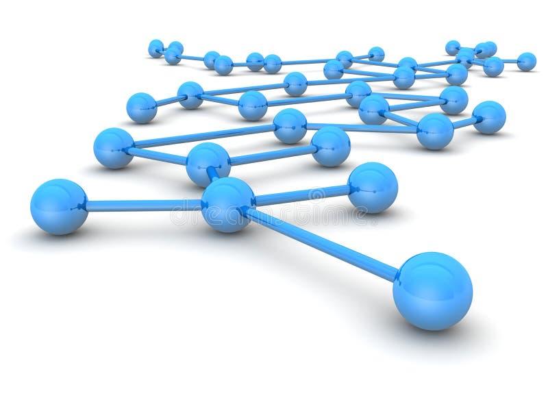 Bedrijfs leiding en netwerkconcept stock illustratie