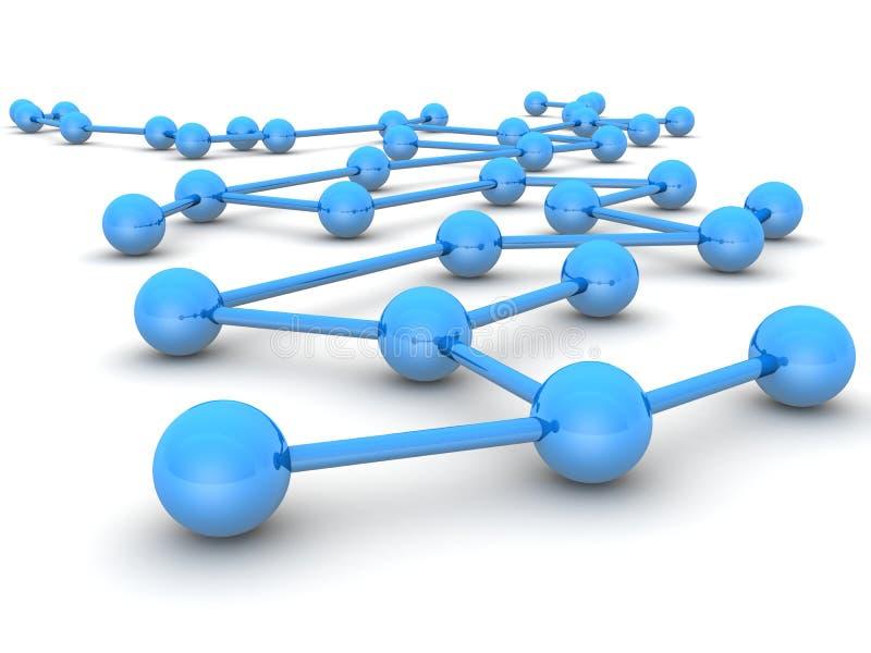 Bedrijfs leiding en netwerkconcept royalty-vrije illustratie