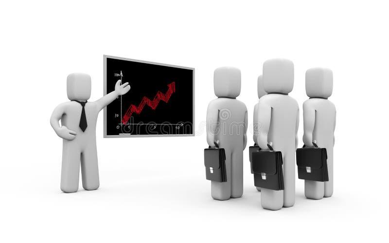 Bedrijfs les. Verbetering van professionele vaardigheid royalty-vrije illustratie