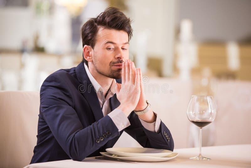 Bedrijfs lunch stock foto