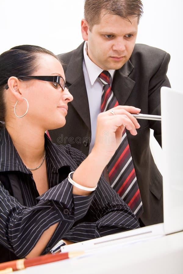 Bedrijfs man en bedrijfsvrouw royalty-vrije stock foto
