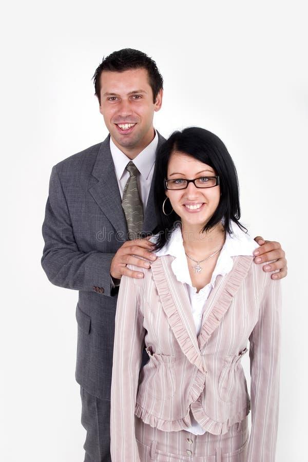 Bedrijfs man en vrouw stock foto's