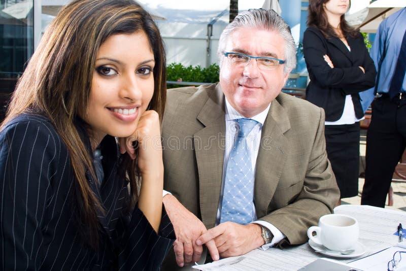 Bedrijfs man en vrouw royalty-vrije stock afbeelding