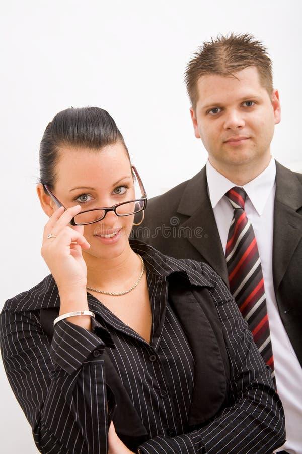 Bedrijfs man en vrouw stock fotografie